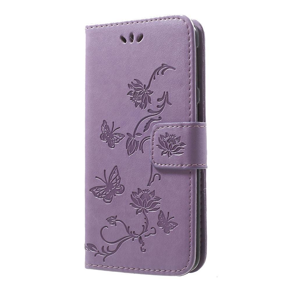 Nahkakotelo Perhonen Samsung Galaxy A40 liila