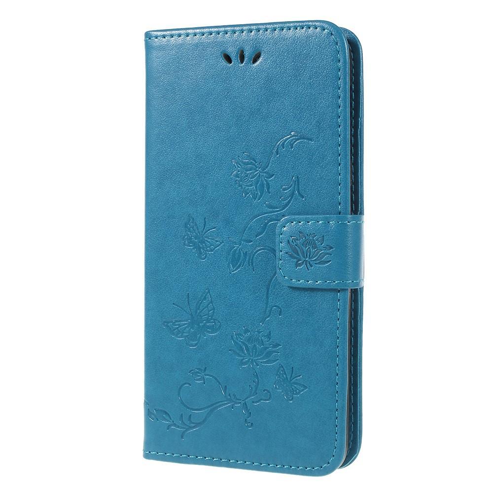 Nahkakotelo Perhonen Samsung Galaxy A6 2018 sininen
