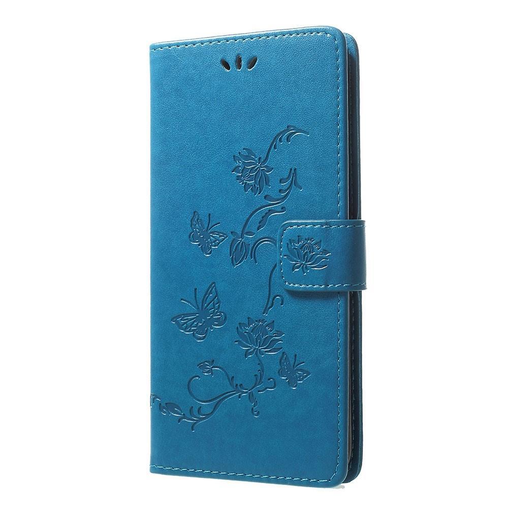 Nahkakotelo Perhonen Samsung Galaxy A70 sininen