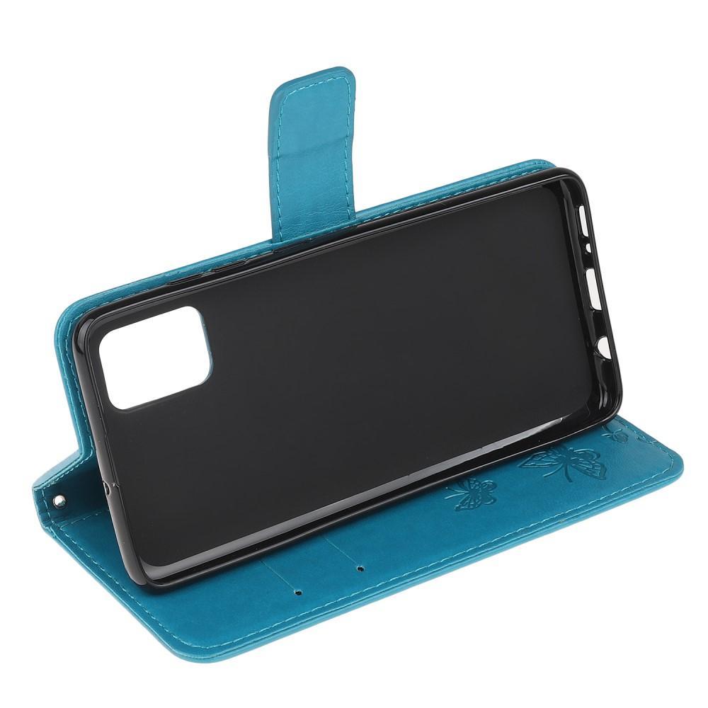 Nahkakotelo Perhonen Samsung Galaxy A71 sininen