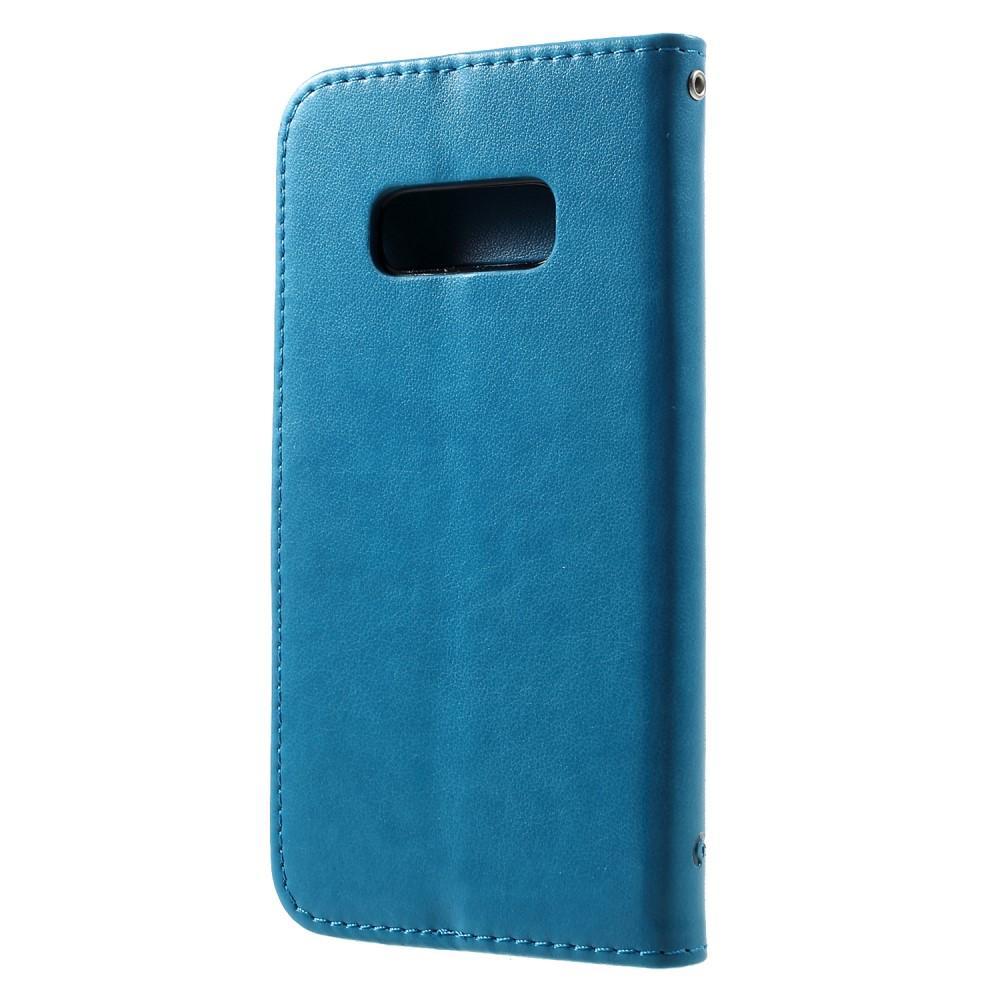 Nahkakotelo Perhonen Samsung Galaxy S10e sininen