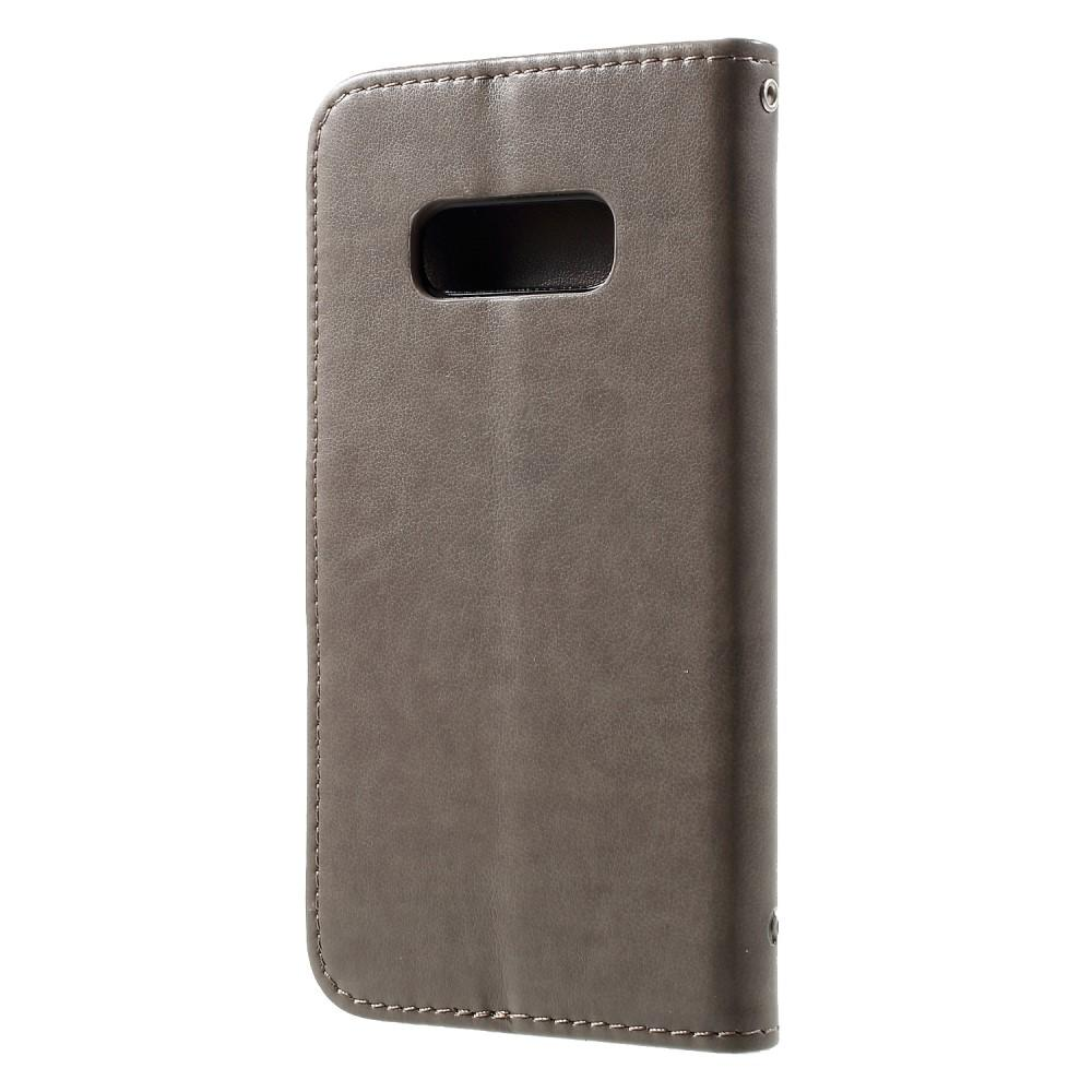 Nahkakotelo Perhonen Samsung Galaxy S10e harmaa