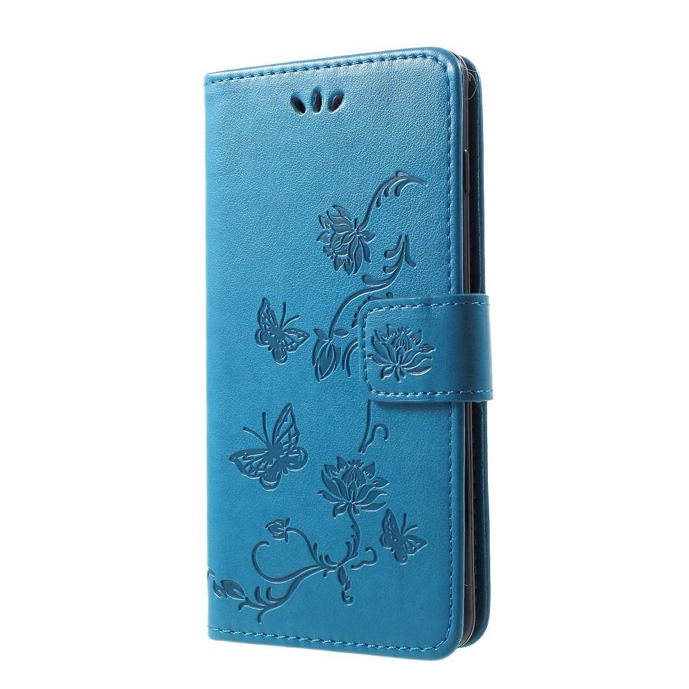 Nahkakotelo Perhonen Samsung Galaxy S10 Plus sininen