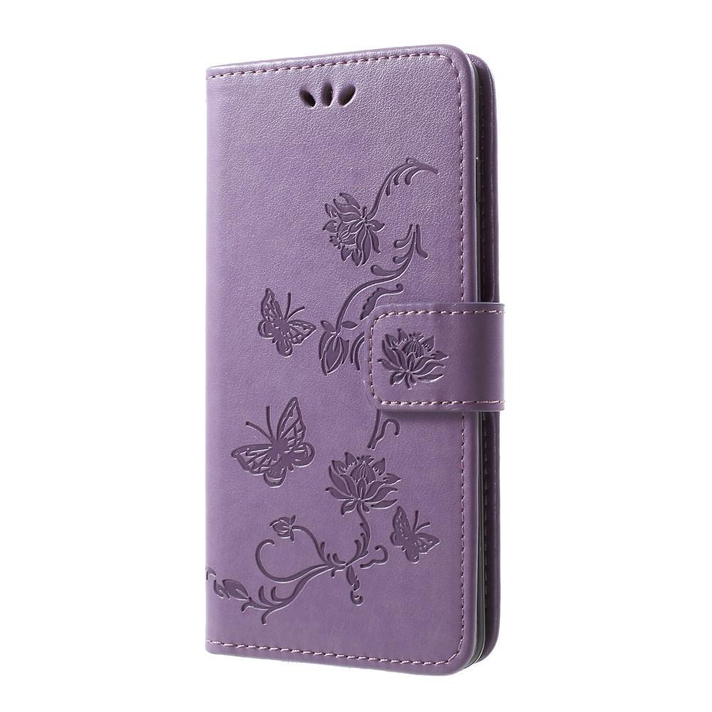 Nahkakotelo Perhonen Samsung Galaxy S10 Plus liila