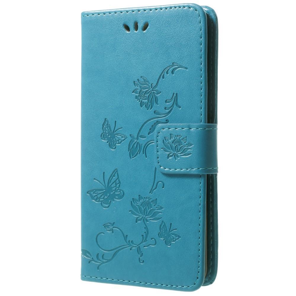 Nahkakotelo Perhonen Samsung Galaxy S9 sininen