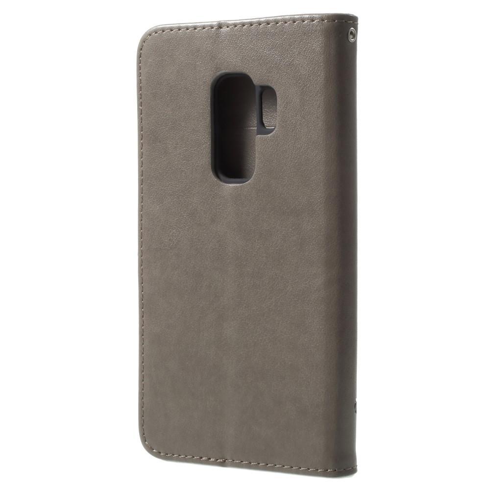 Nahkakotelo Perhonen Samsung Galaxy S9 Plus harmaa