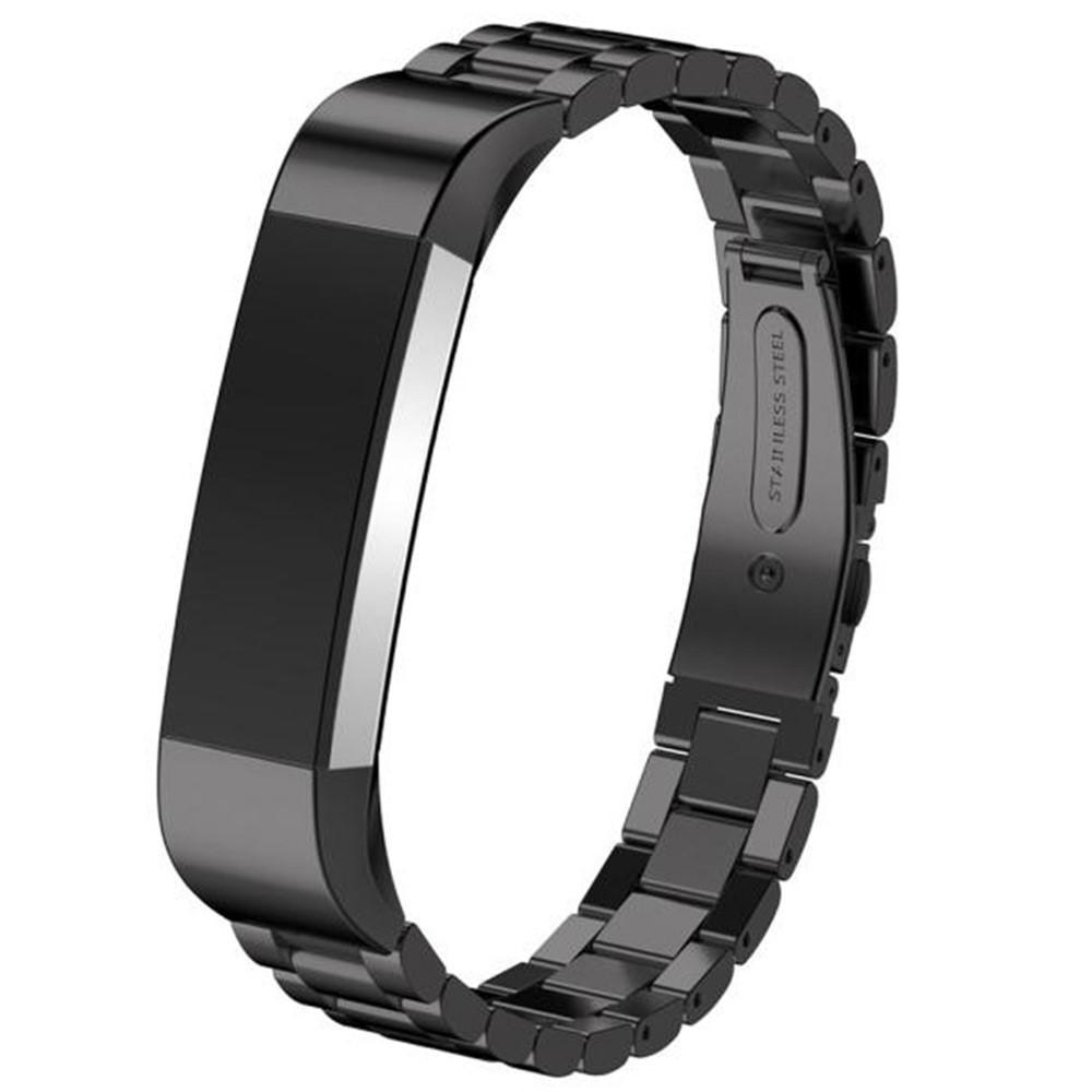 Metalliranneke Fitbit Alta/Alta HR musta