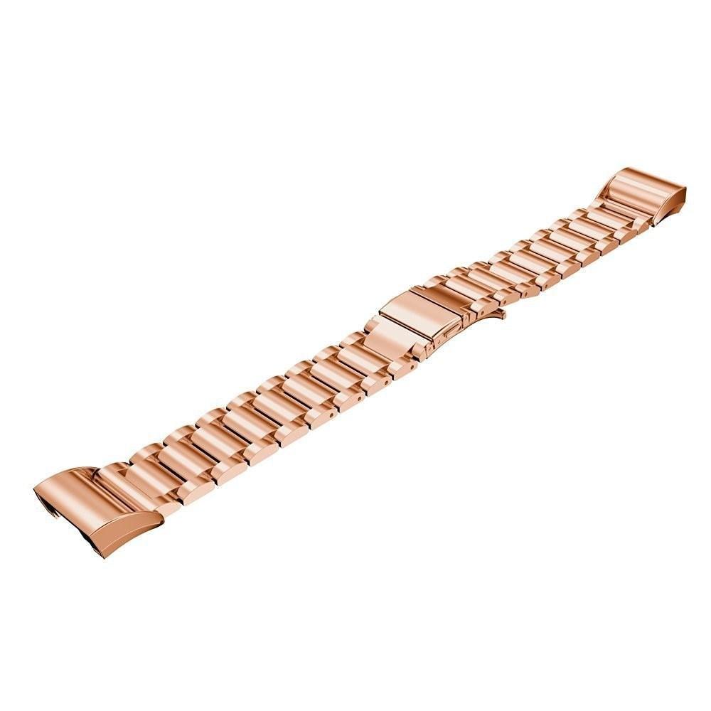 Metalliranneke Fitbit Charge 2 ruusukulta