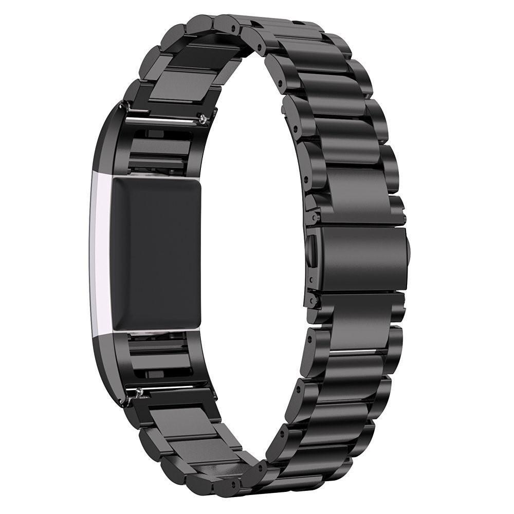 Metalliranneke Fitbit Charge 2 musta