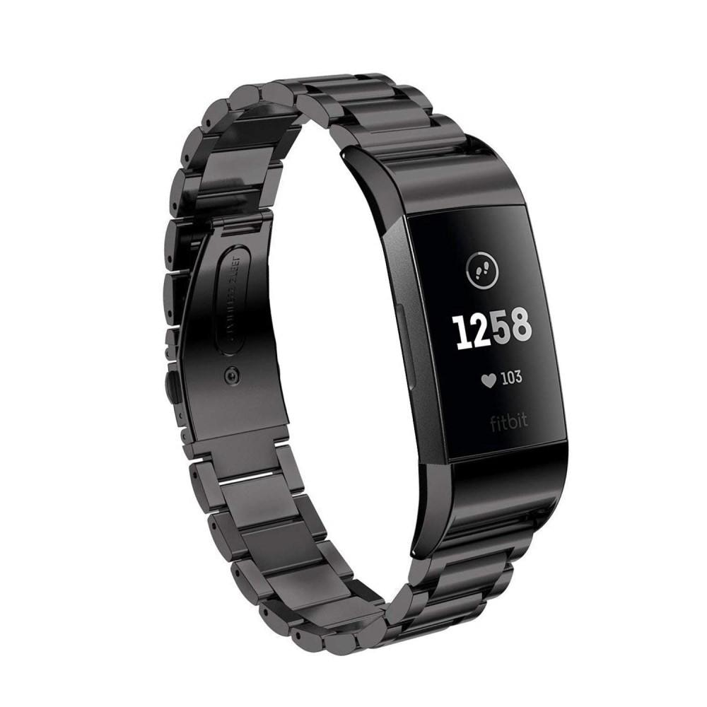 Metalliranneke Fitbit Charge 3/4 musta
