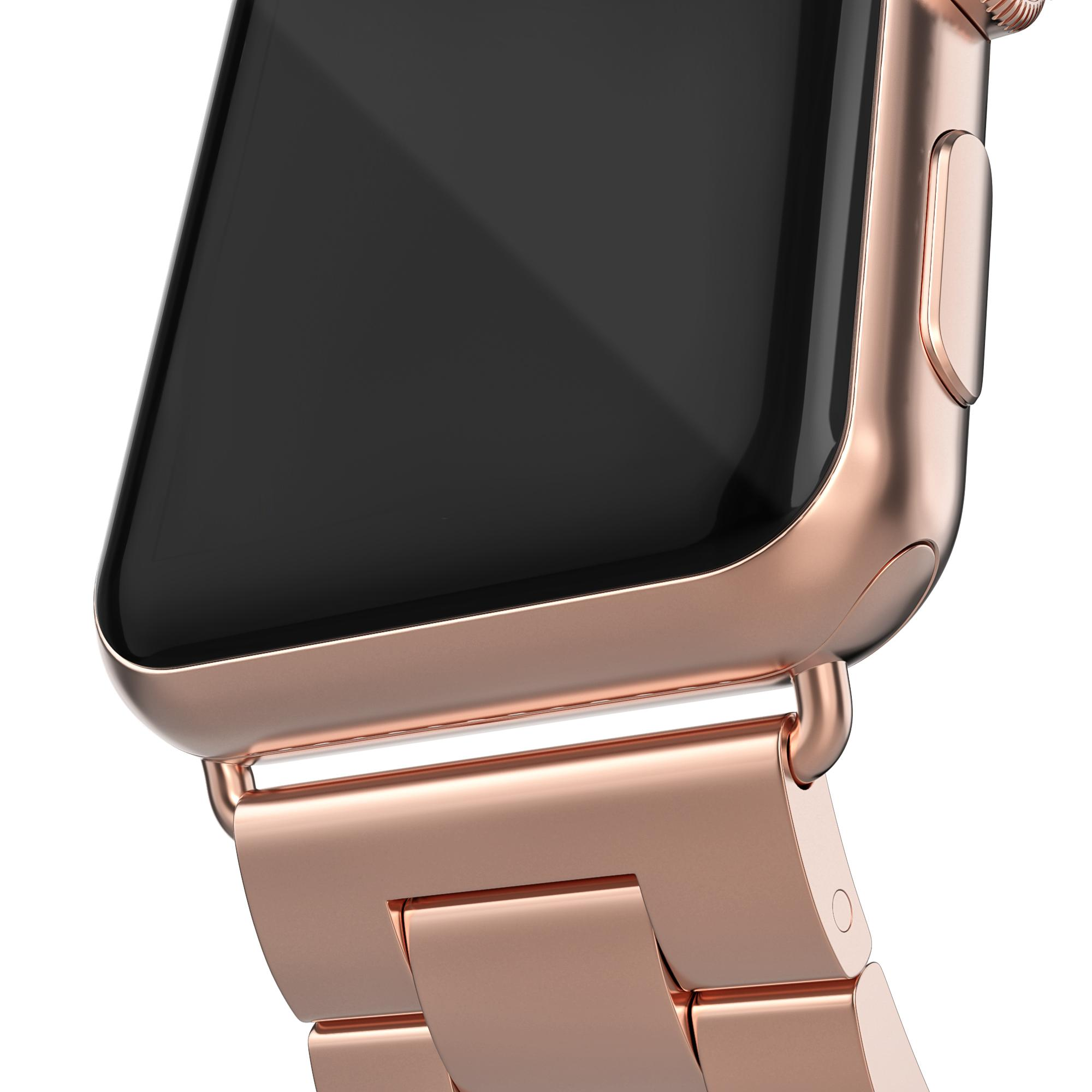 Metalliranneke Apple Watch 38/40/41 mm ruusukulta