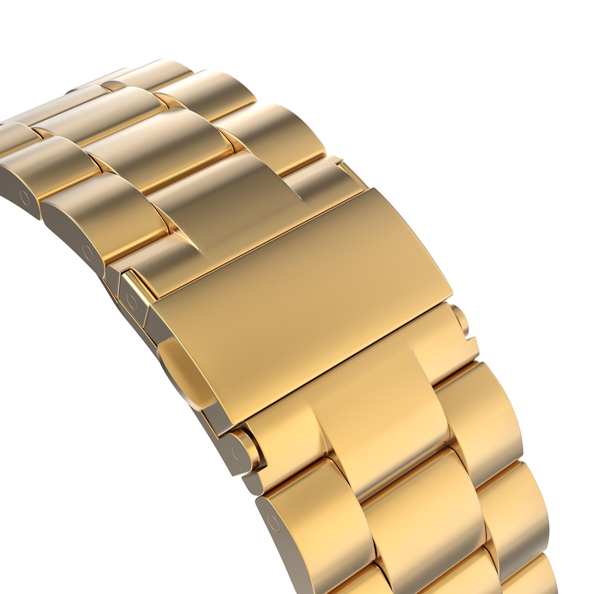 Metalliranneke Apple Watch 42/44/45 mm kulta