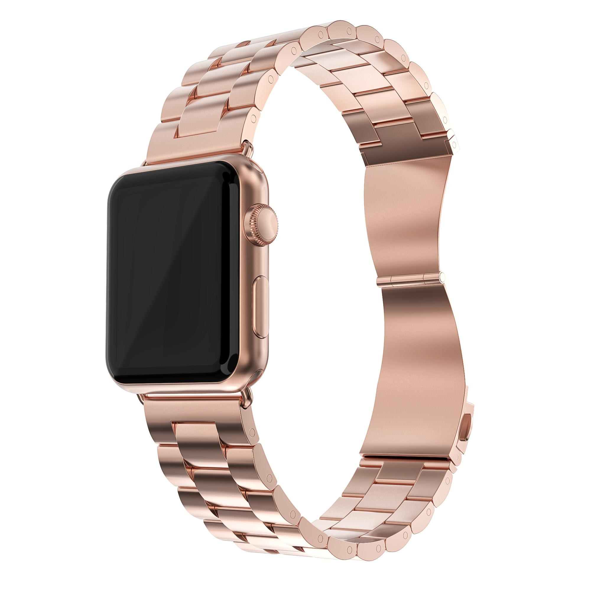 Metalliranneke Apple Watch 42/44/45 mm ruusukulta