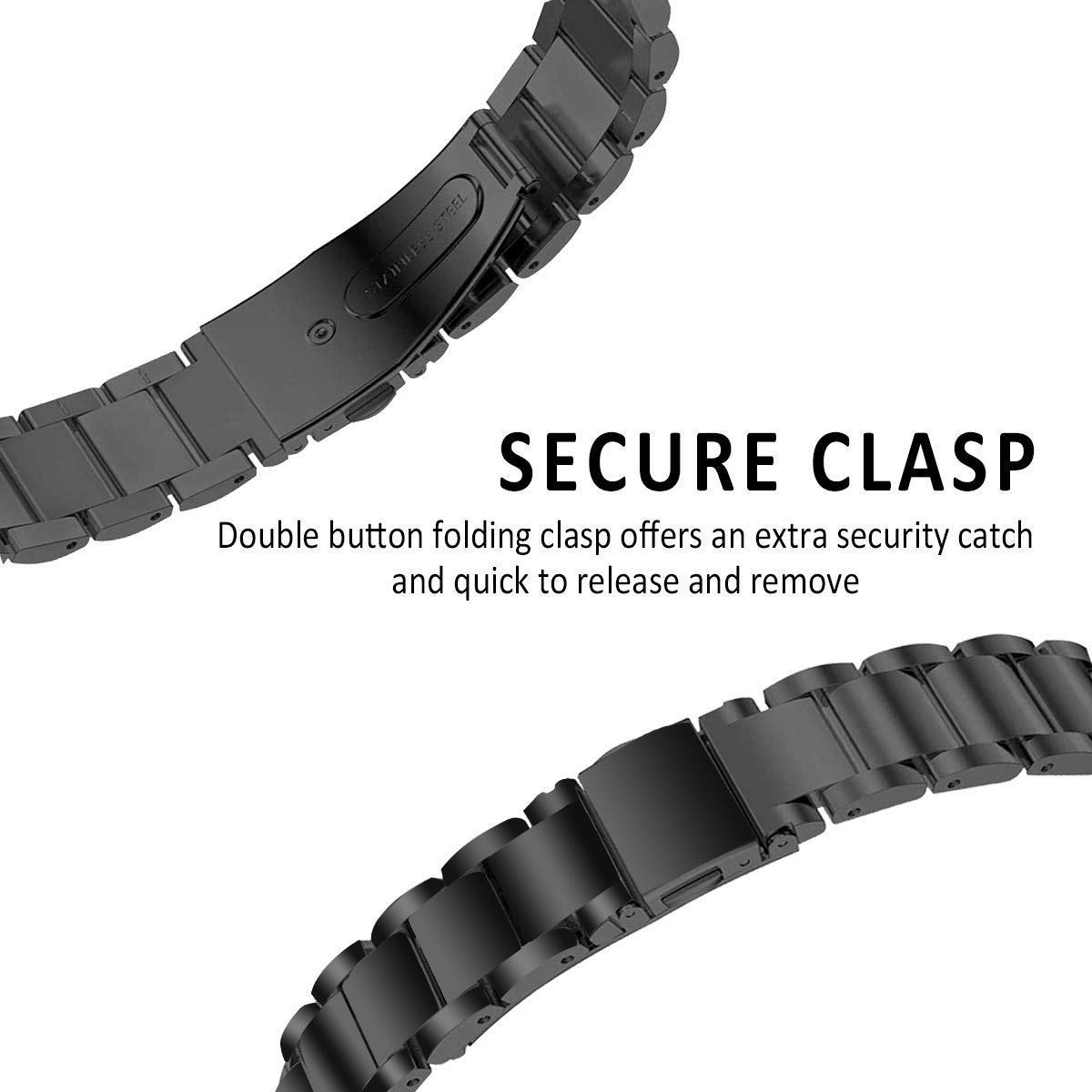Metalliranneke Fitbit Inspire/Inspire HR/Inspire 2 musta
