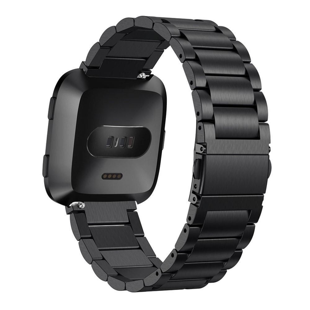 Metalliranneke Fitbit Versa/Versa Lite/Versa 2 musta