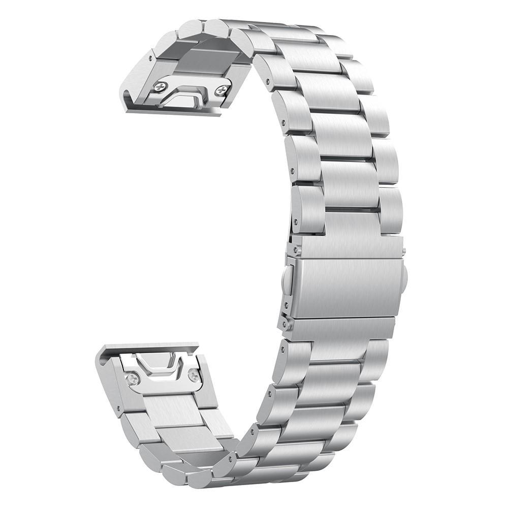 Metalliranneke Garmin Fenix 5/5 Plus/Forerunner 935/945 hopea