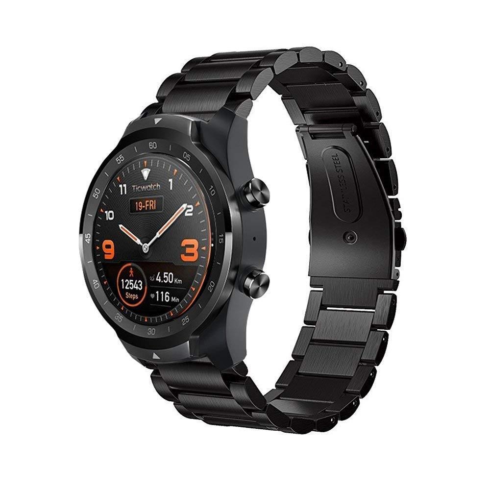 Metalliranneke Mobvoi Ticwatch Pro/S2/E2 musta