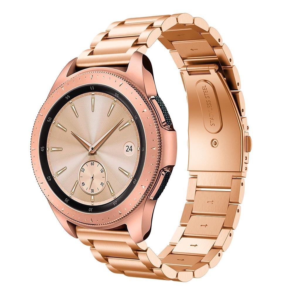 Metalliranneke Samsung Galaxy Watch 42mm ruusukulta