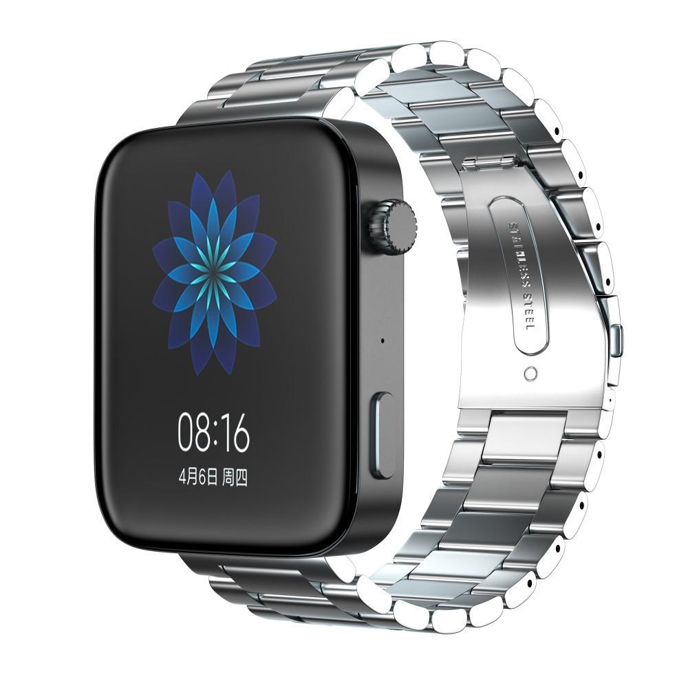Metalliranneke Xiaomi Mi Watch hopea