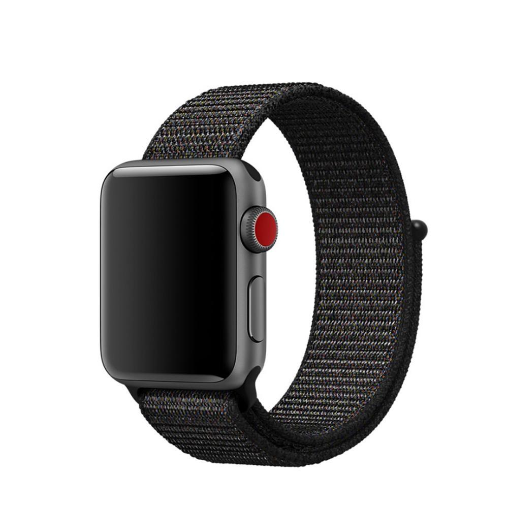 Nailonranneke Apple Watch 38/40/41 mm musta