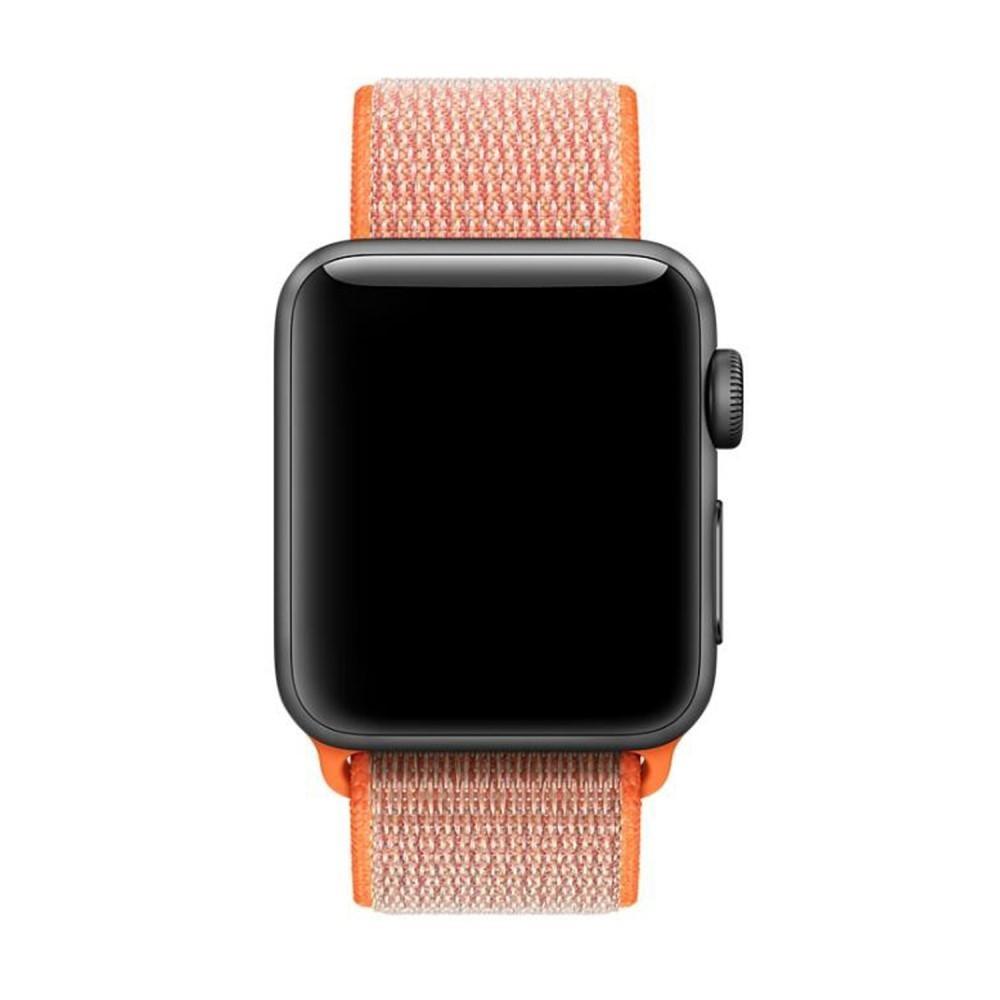 Nailonranneke Apple Watch 42/44/45 mm oranssi