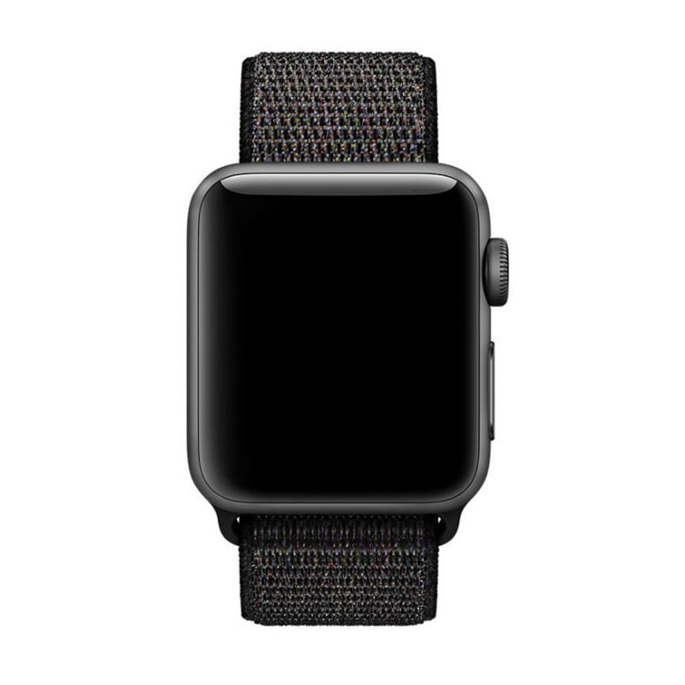 Nailonranneke Apple Watch 42/44/45 mm musta