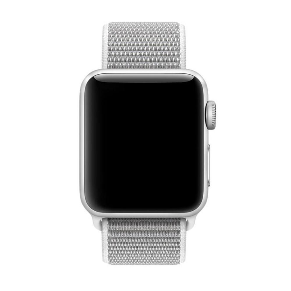Nailonranneke Apple Watch 42/44/45 mm valkoinen