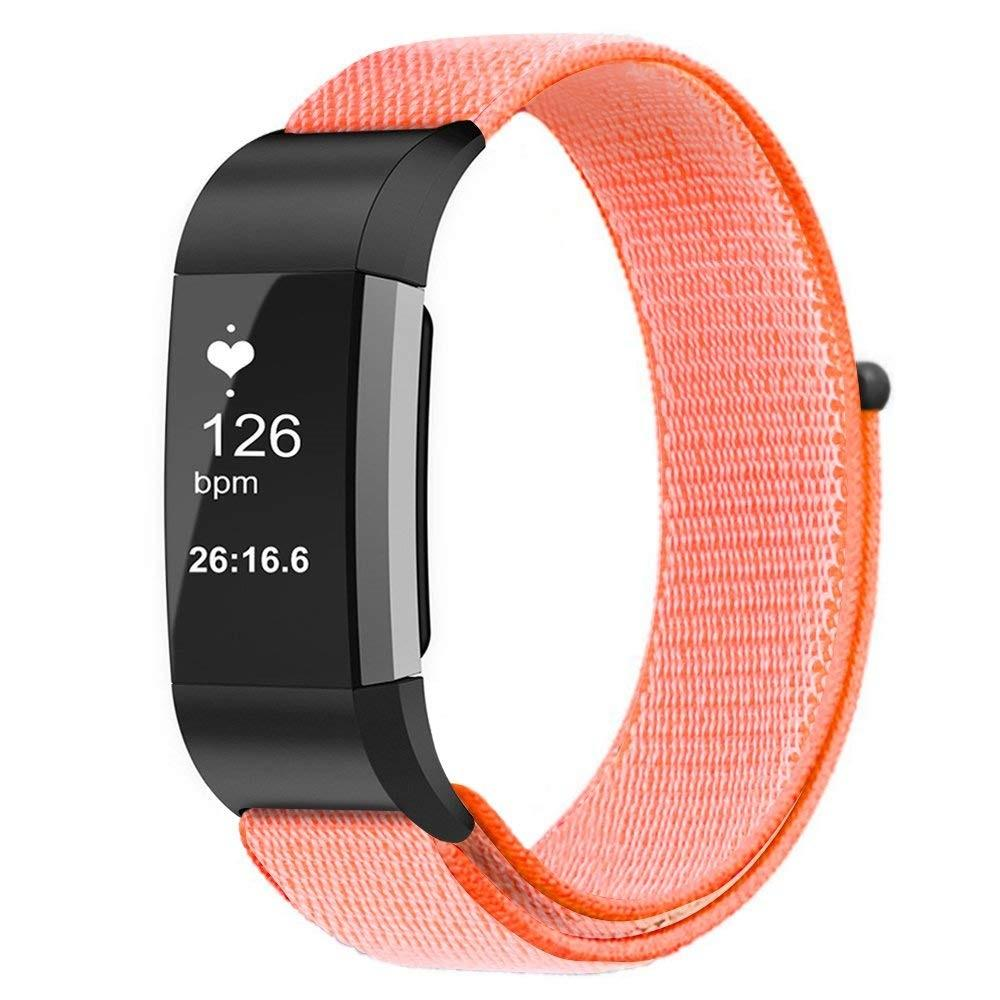 Nailonranneke Fitbit Charge 3/4 oranssi