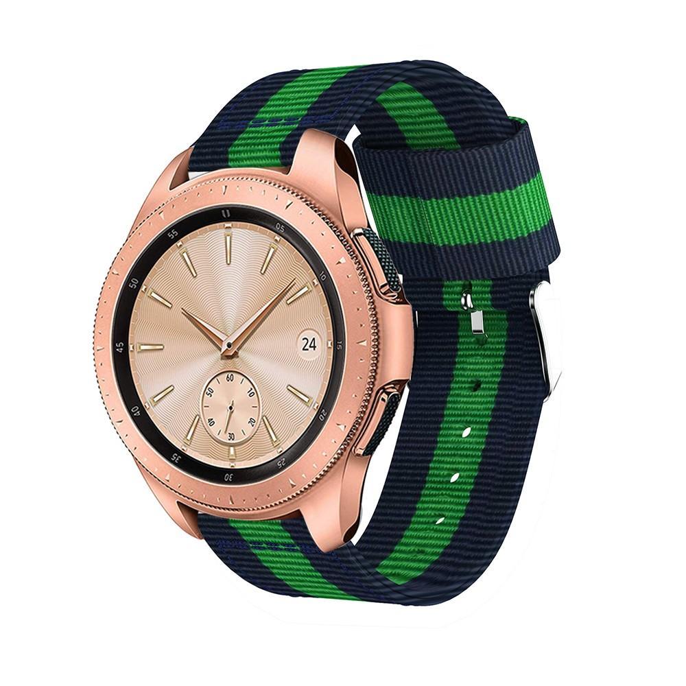 Nailonranneke Samsung Galaxy Watch 42mm sininen/vihreä