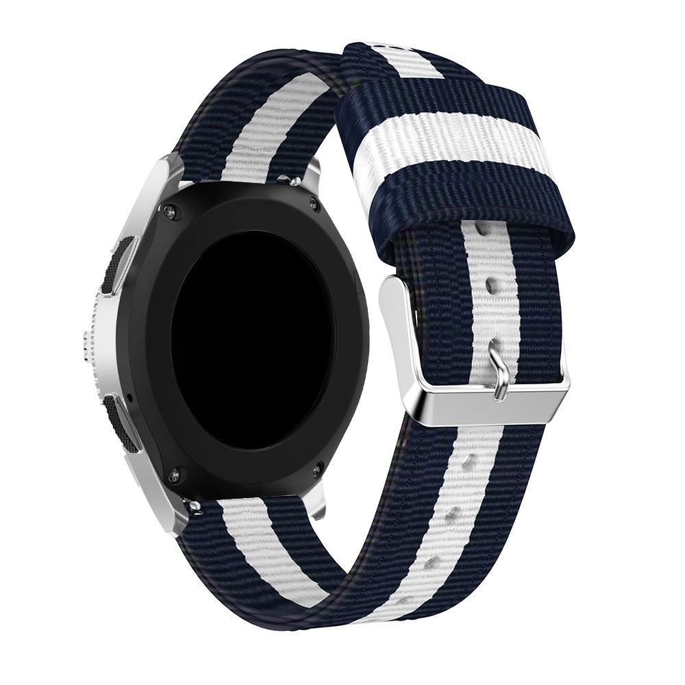 Nailonranneke Samsung Galaxy Watch 46mm sininen/valkoinen