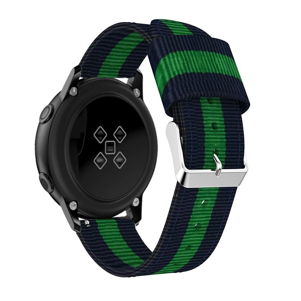 Nailonranneke Samsung Galaxy Watch Active sininen/vihreä