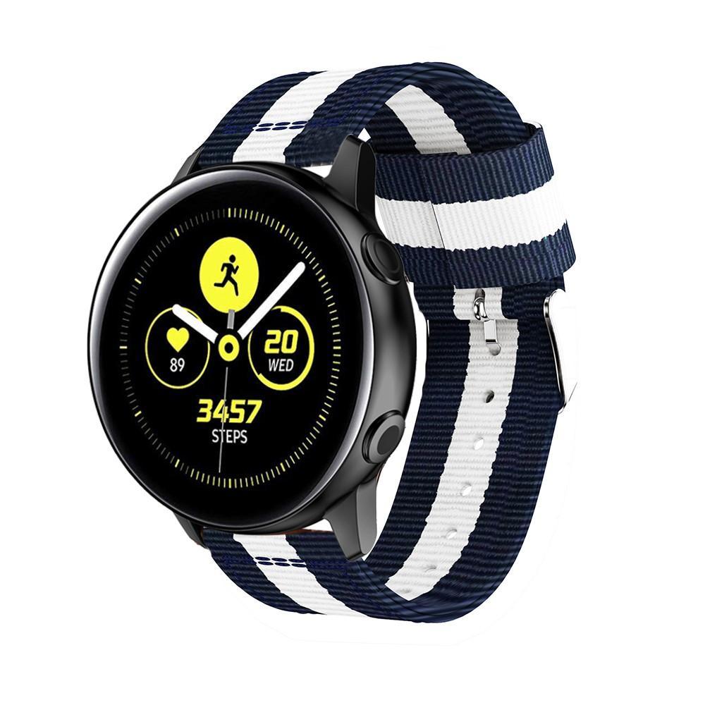 Nailonranneke Samsung Galaxy Watch Active sininen/valkoinen