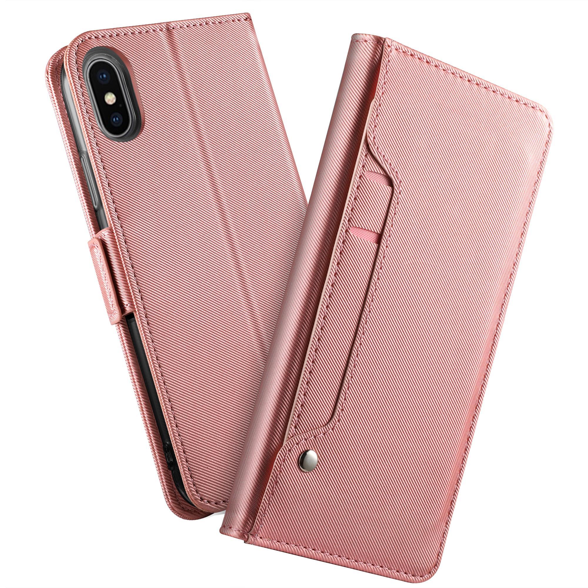 Suojakotelo Peili Apple iPhone XS Max Vaaleanpunainen