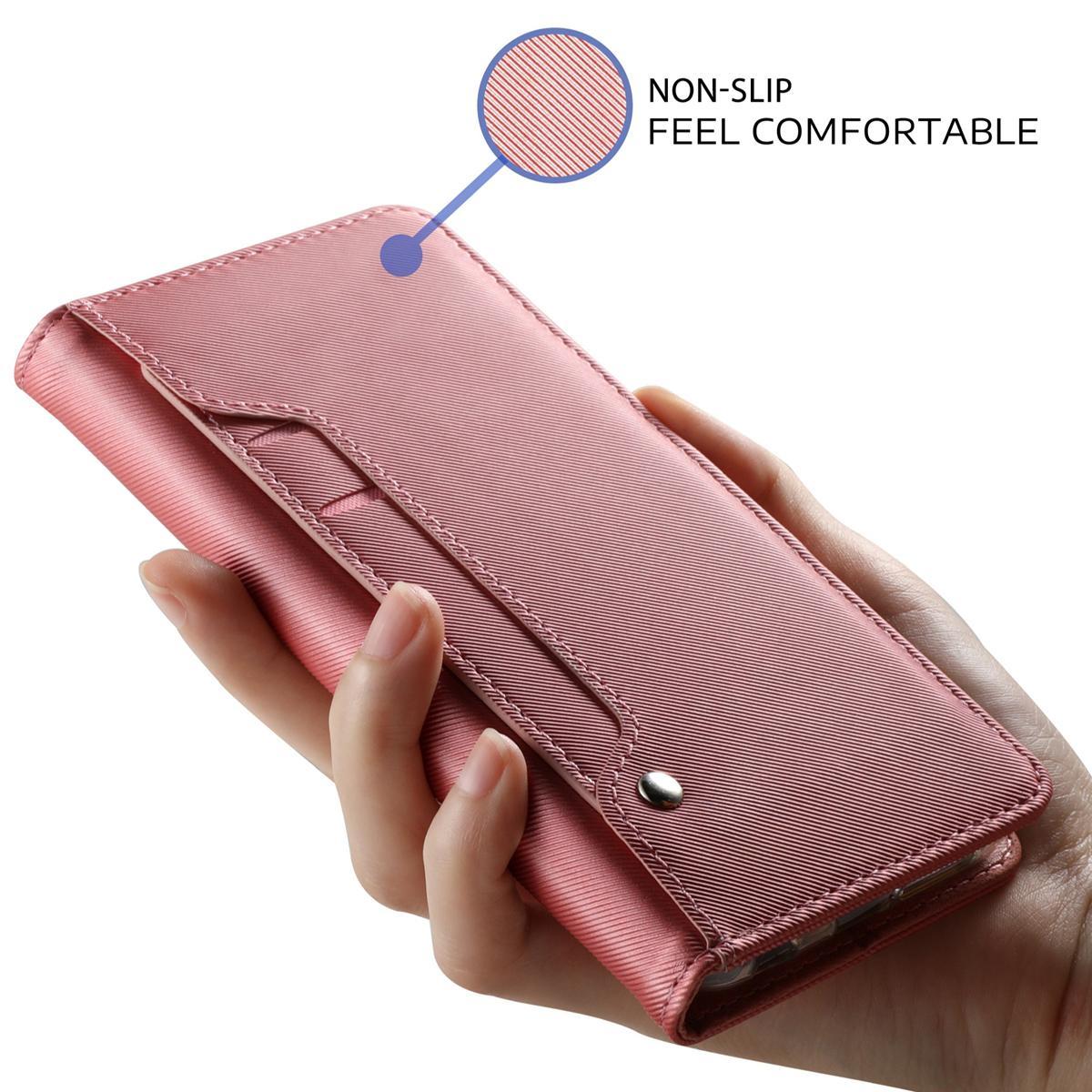Suojakotelo Peili Galaxy A50 Vaaleanpunainen