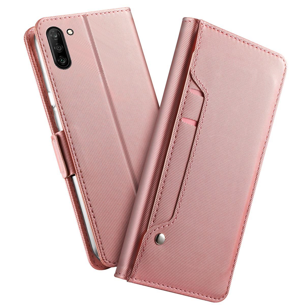 Suojakotelo Peili Galaxy Note 10 Vaaleanpunainen