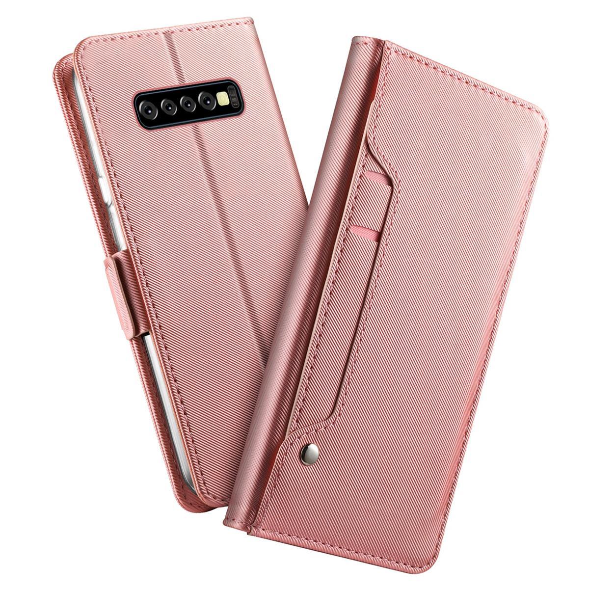 Suojakotelo Peili Galaxy S10 Plus Vaaleanpunainen