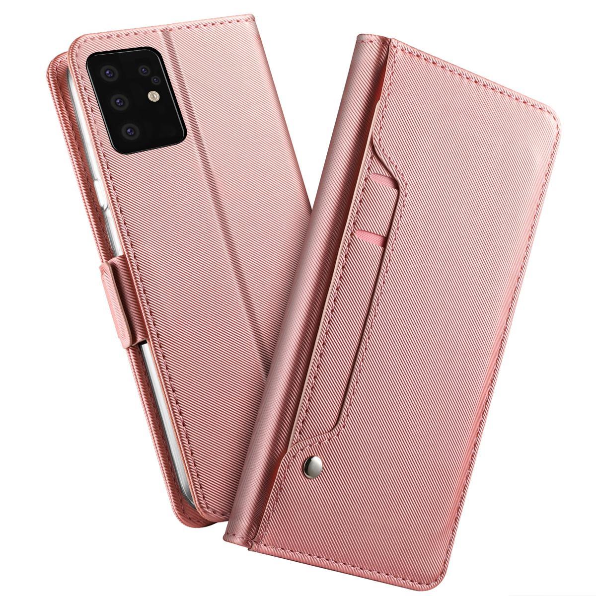 Suojakotelo Peili Galaxy S20 Plus Vaaleanpunainen