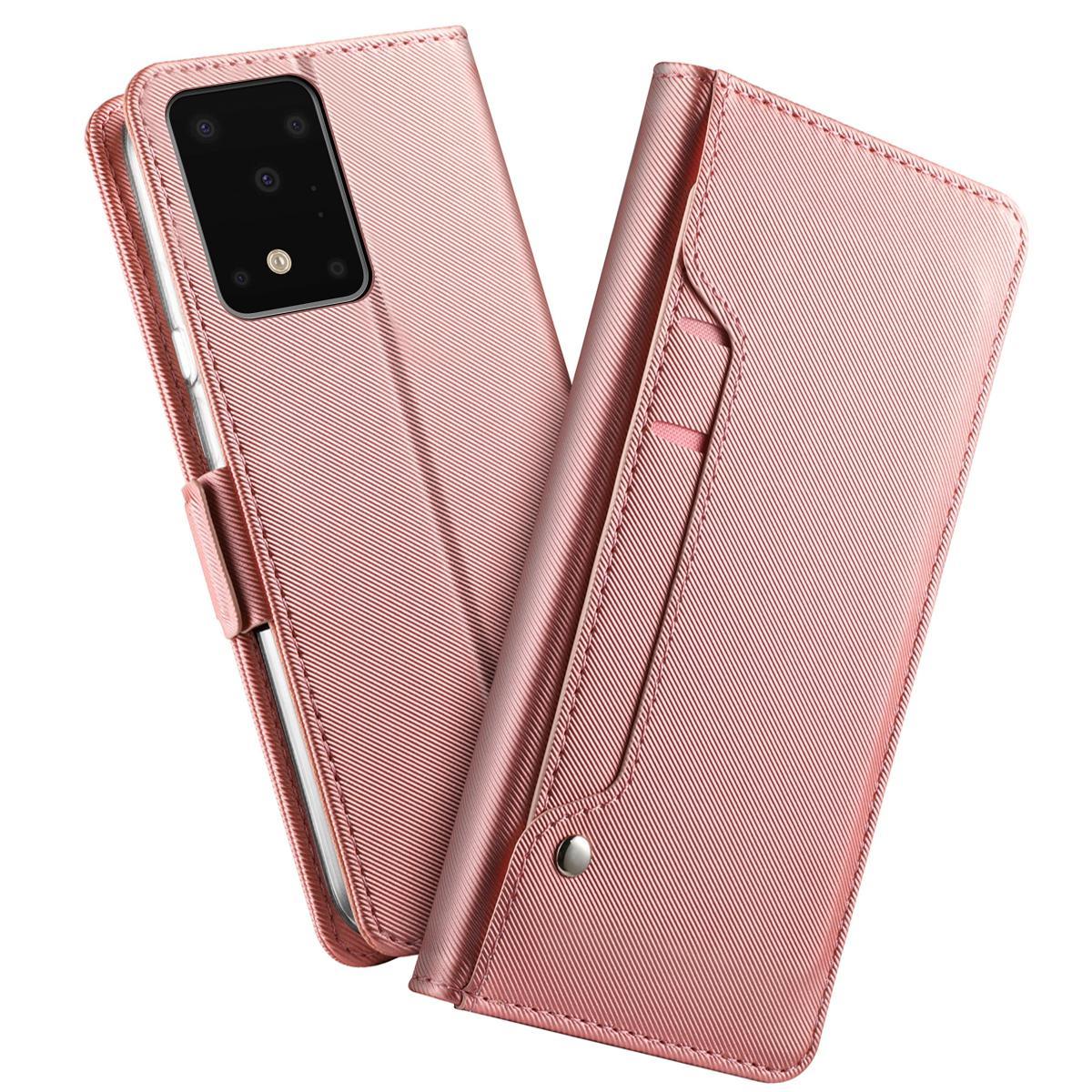Suojakotelo Peili Galaxy S20 Ultra Vaaleanpunainen