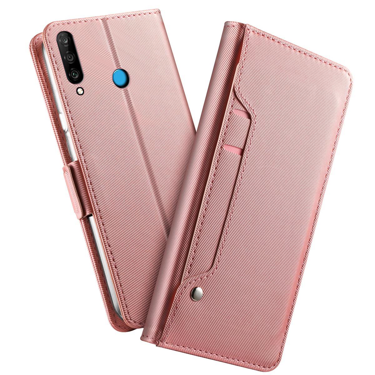 Suojakotelo Peili Huawei P30 Lite Vaaleanpunainen