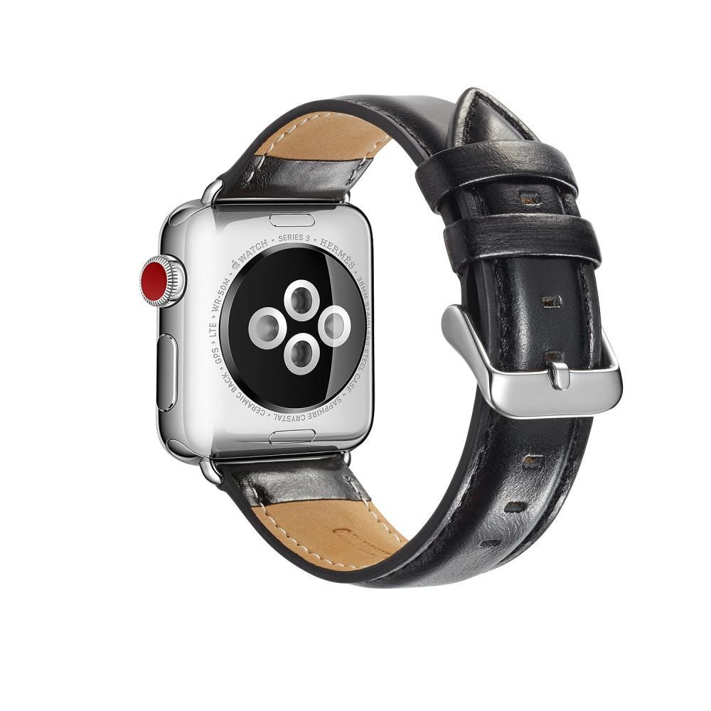 Premium Leather Armband Apple Watch 42/44/45 mm Black