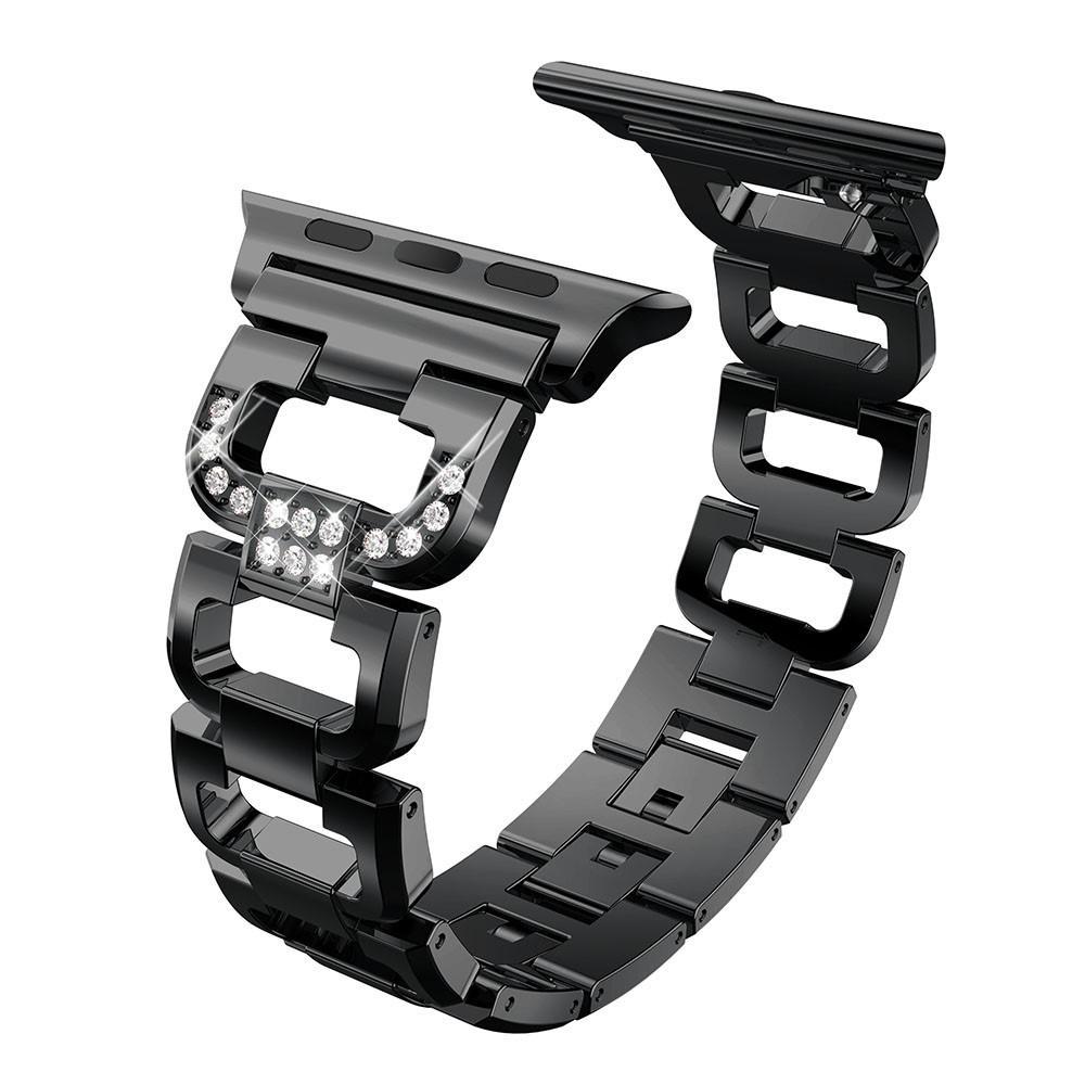 Rhinestone Bracelet Apple Watch 42/44/45 mm Black
