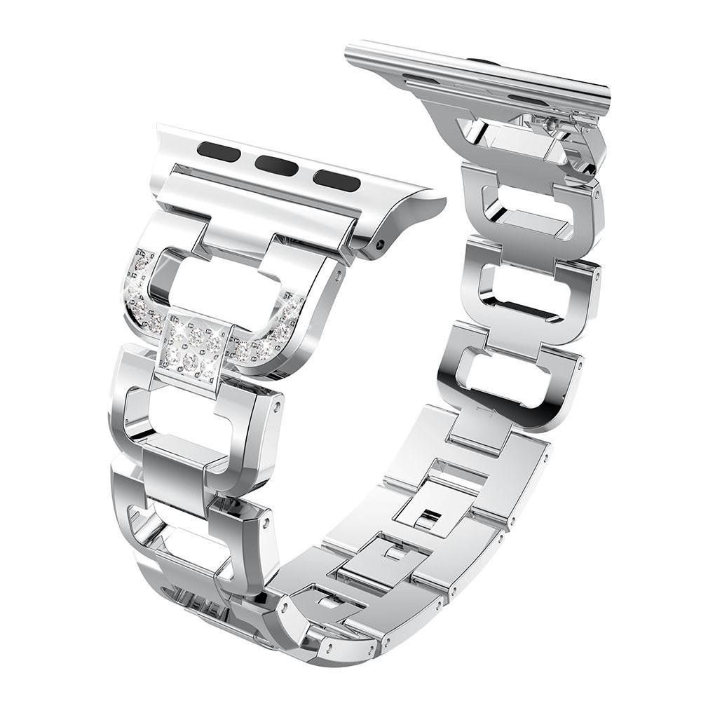 Rhinestone Bracelet Apple Watch 42/44/45 mm Silver