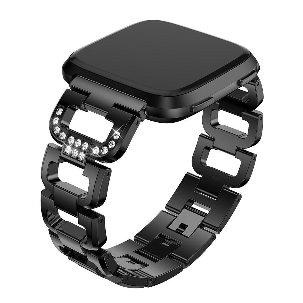 Rhinestone Bracelet Fitbit Versa/Versa 2 Black