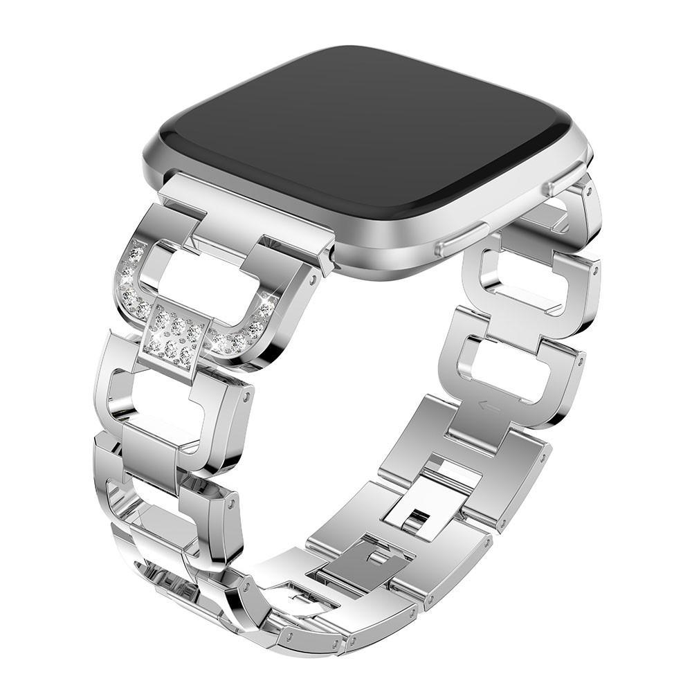 Rhinestone Bracelet Fitbit Versa/Versa 2 Silver