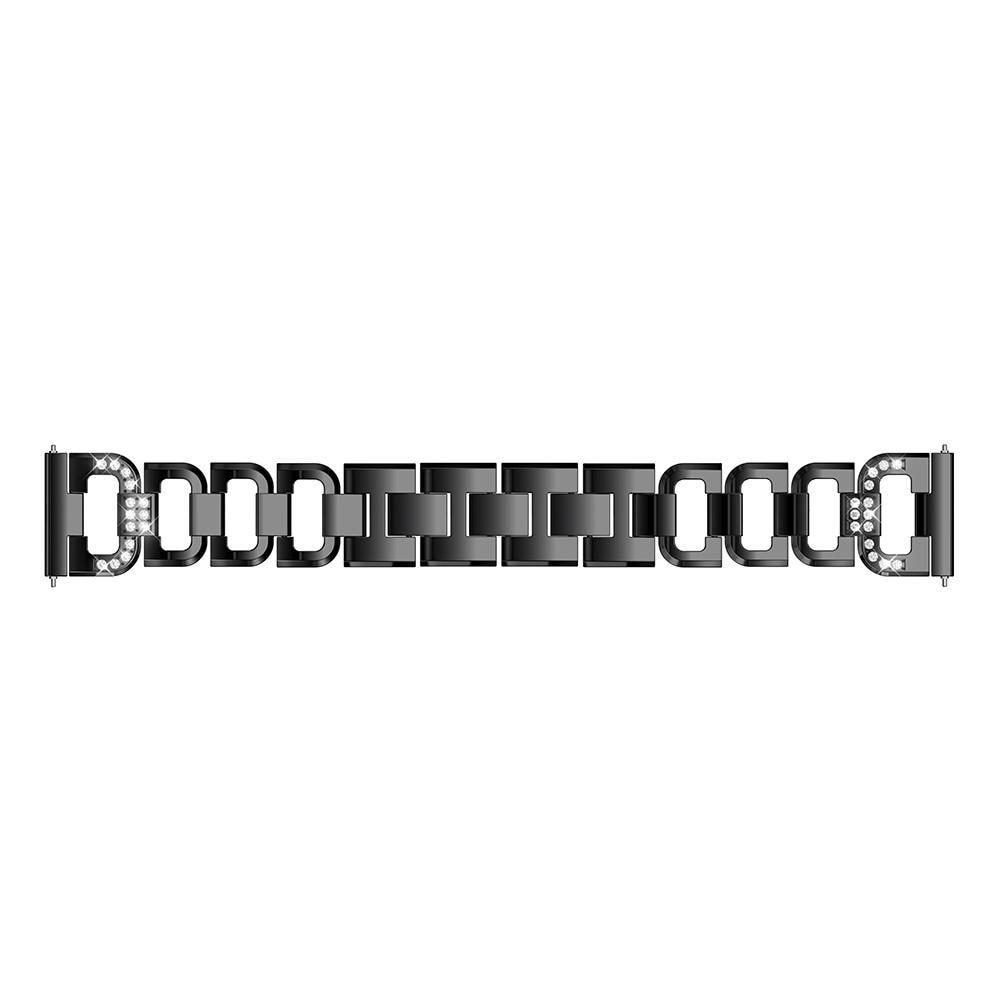 Rhinestone Bracelet Galaxy Watch 42mm/Watch Active Black