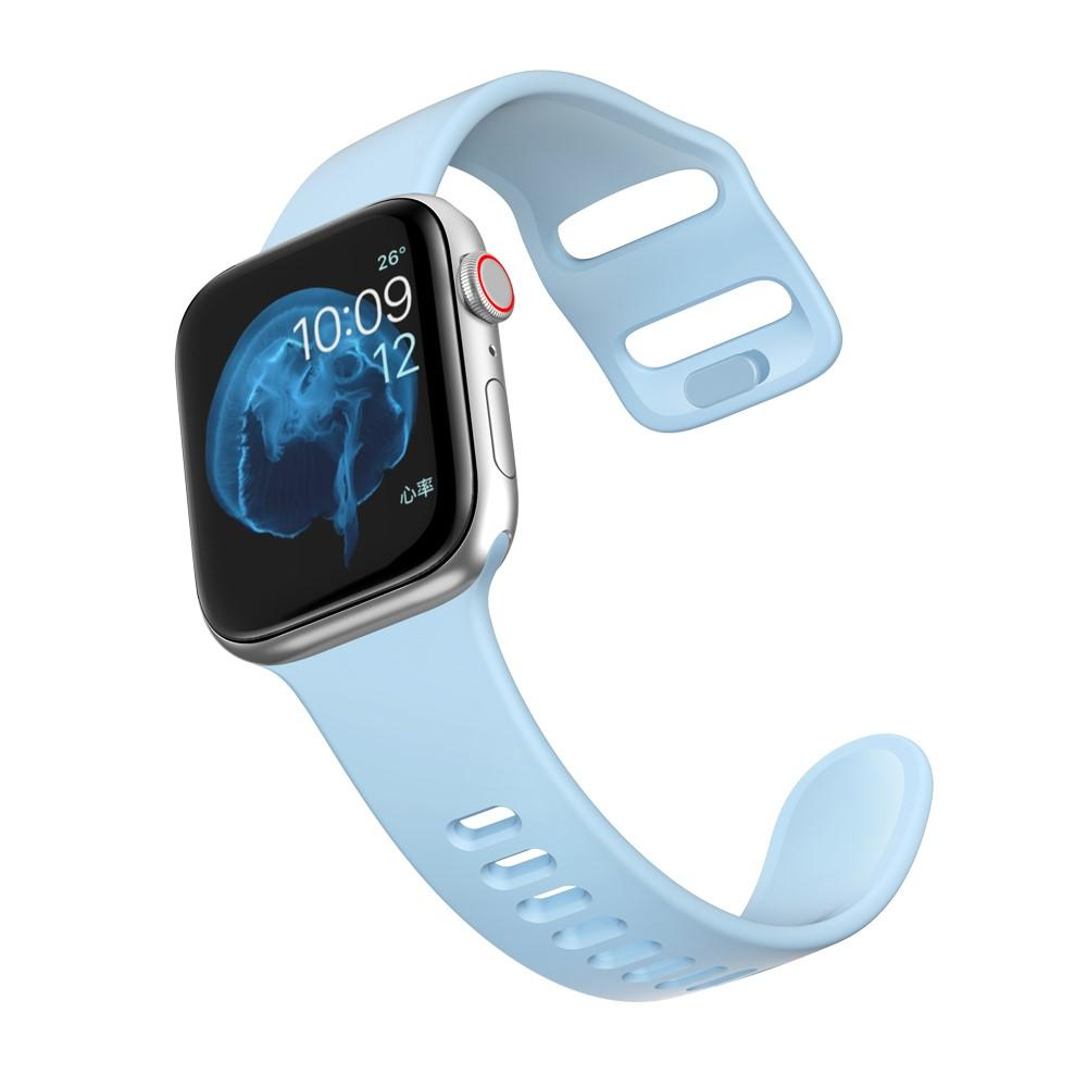 Silikoniranneke Apple Watch 38/40/41 mm vaaleansininen