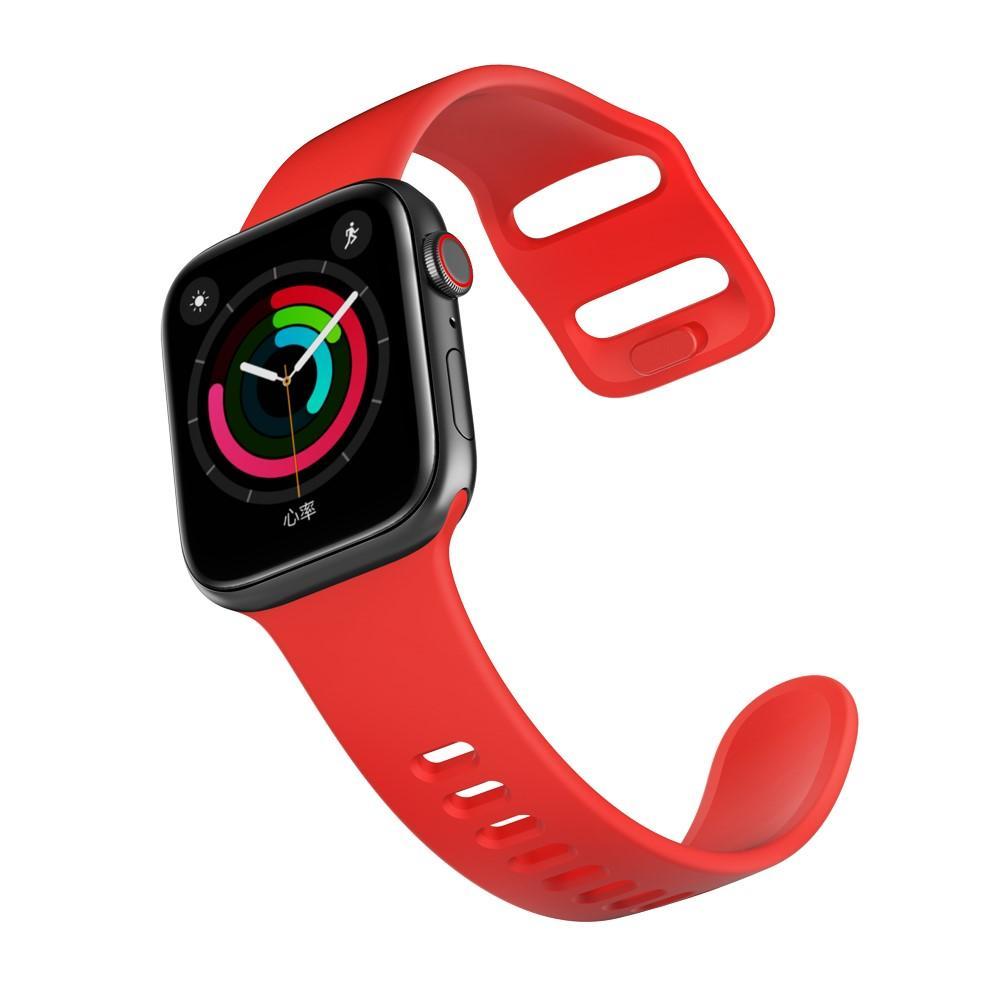 Silikoniranneke Apple Watch 38/40/41 mm punainen
