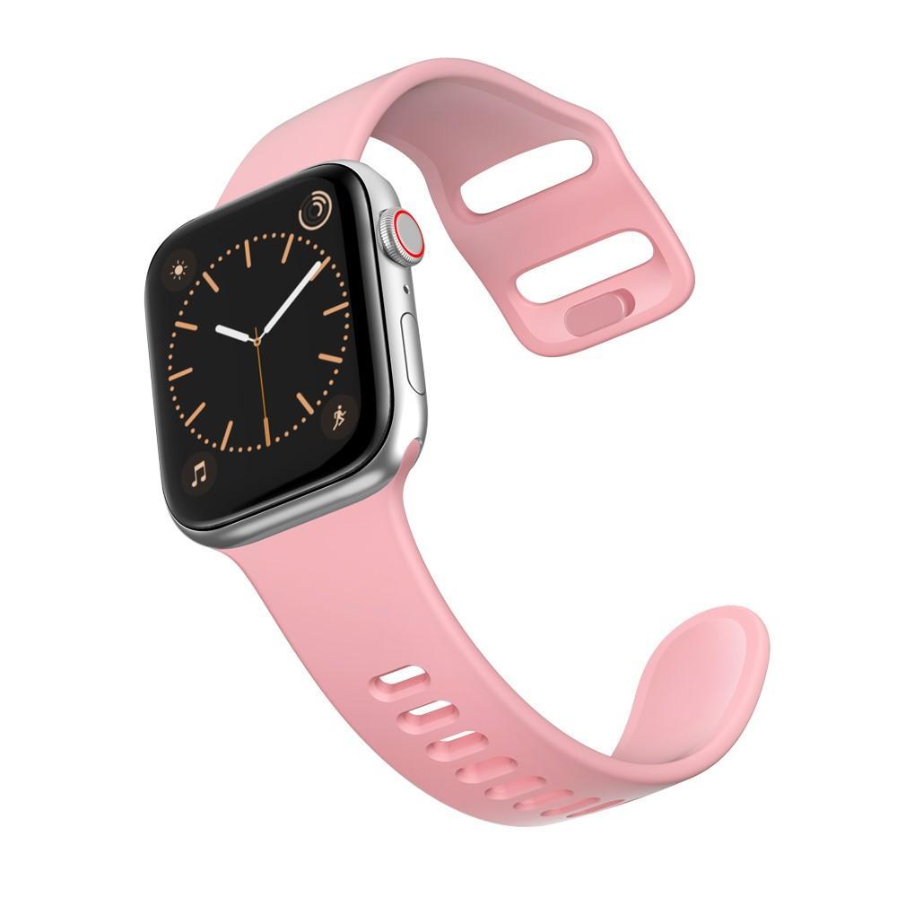 Silikoniranneke Apple Watch 38/40/41 mm vaaleanpunainen