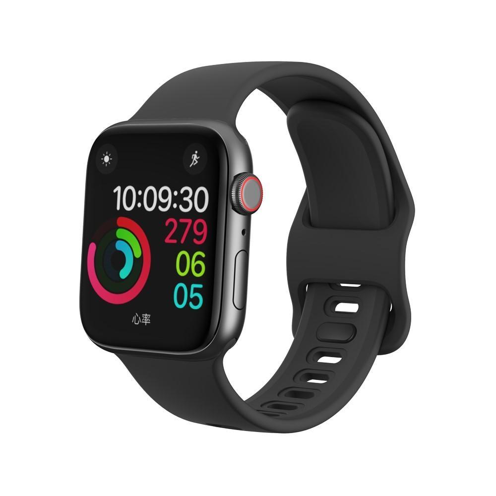 Silikoniranneke Apple Watch 38/40/41 mm musta
