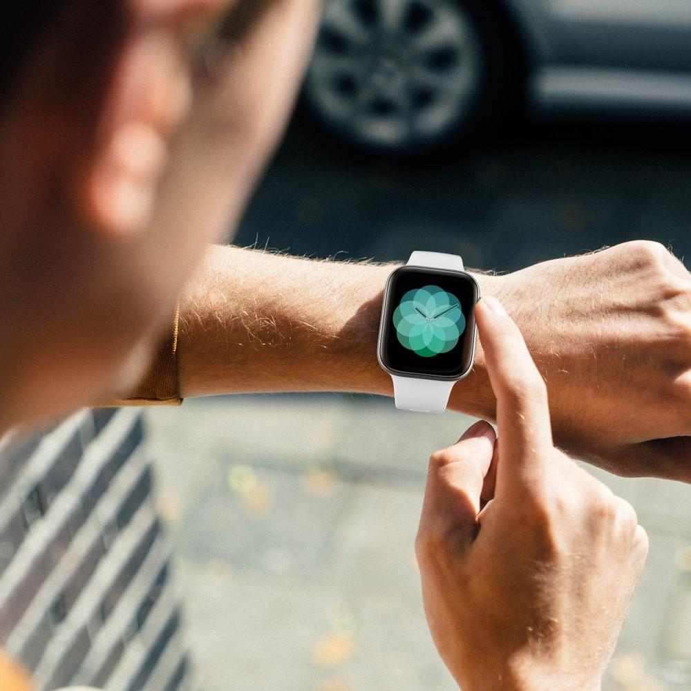 Silikoniranneke Apple Watch 38/40/41 mm valkoinen
